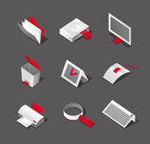 Modieuze Desktop grafische pictogrammen Stock Afbeeldingen