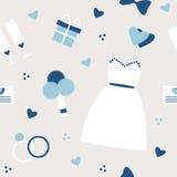 Modieuze eenvoudige huwelijksachtergrond in blauwe kleuren Stock Foto