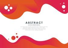 Modieuze en kleurrijke Abstracte vloeistof - golfontwerp vector illustratie