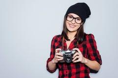 Modieuze fotograaf royalty-vrije stock afbeeldingen