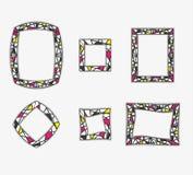 Modieuze frames stock foto's