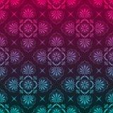 Modieuze achtergrond die van bloemenpatroon wordt gemaakt Stock Fotografie