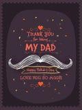 Modieuze groetkaart voor Gelukkige Vaderdag royalty-vrije illustratie