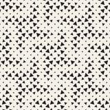 Modieuze halftone textuur Eindeloze abstracte achtergrond met willekeurige groottevormen Vector Naadloos Mozaïekpatroon Royalty-vrije Stock Fotografie