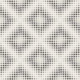 Modieuze halftone textuur Eindeloze abstracte achtergrond met willekeurige groottevormen Vector naadloos patroon Stock Afbeeldingen