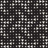 Modieuze halftone textuur Eindeloze abstracte achtergrond met willekeurige groottevormen Vector naadloos patroon Stock Afbeelding