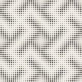 Modieuze halftone textuur Eindeloze abstracte achtergrond met willekeurige groottevormen Vector naadloos patroon Stock Foto's