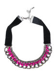 Modieuze halsband met roze kristallen royalty-vrije stock foto's