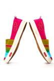 Modieuze, heldere, gemakkelijke sportenschoenen (gymschoenen) Royalty-vrije Stock Afbeeldingen