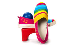 Modieuze, heldere, gemakkelijke sportenschoenen (gymschoenen) Royalty-vrije Stock Fotografie