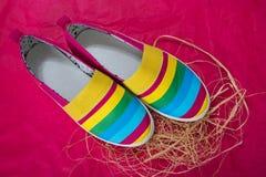 Modieuze, heldere, gemakkelijke sportenschoenen (gymschoenen) Royalty-vrije Stock Foto's