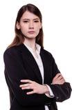 Modieuze Jonge Gemengde Ras Europese Vrouw - Voorraadbeeld Royalty-vrije Stock Foto