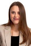 Modieuze Jonge Gemengde Ras Europese Vrouw - Voorraadbeeld Stock Fotografie
