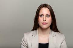 Modieuze Jonge Gemengde Ras Europese Vrouw - Voorraadbeeld Royalty-vrije Stock Afbeelding