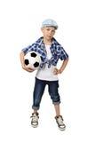 Modieuze jongensvoetbalster royalty-vrije stock fotografie