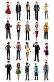 Modieuze jongeren van het verschillende behoren tot een bepaald ras vector illustratie