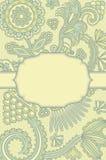 Modieuze kaart met een bloemenachtergrond Royalty-vrije Stock Fotografie