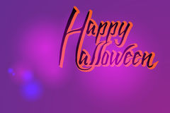 Modieuze kaart voor Halloween Stock Foto