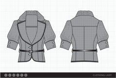 Modieuze klerendame vector illustratie
