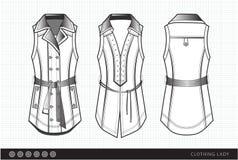 Modieuze klerendame stock illustratie