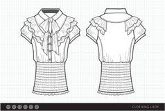 Modieuze klerendame royalty-vrije illustratie