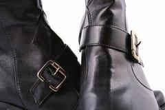 Modieuze leer vrouwelijke laarzen Royalty-vrije Stock Foto's