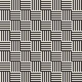 Modieuze Lijnen Maze Lattice Etnische Zwart-wit Textuur Abstracte geometrisch Vector Naadloze Zwart-wit Stock Foto's