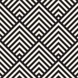 Modieuze Lijnen Maze Lattice Etnische Zwart-wit Textuur Abstracte geometrisch Vector Naadloze Zwart-wit Stock Afbeelding