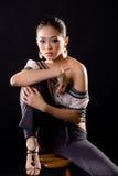 Modieuze manier Aziatische jonge vrouw Royalty-vrije Stock Fotografie