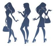 Modieuze meisjes Royalty-vrije Stock Afbeeldingen