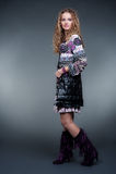 Modieuze model in bont kleding Royalty-vrije Stock Foto's