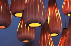 Modieuze oranje lampekap royalty-vrije stock afbeelding