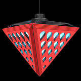 Modieuze plafondlamp met brekingselementen Het Concept van het ontwerp 3D Illustratie Stock Foto's