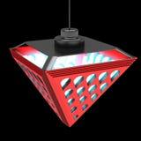 Modieuze plafondlamp met brekingselementen Het Concept van het ontwerp 3D Illustratie Royalty-vrije Stock Afbeelding