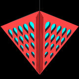 Modieuze plafondlamp met brekingselementen Het Concept van het ontwerp 3D Illustratie Stock Foto