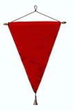 Modieuze rode wimpel of vlag die over wit wordt geïsoleerdg Royalty-vrije Stock Afbeeldingen