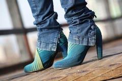 Modieuze schoenen Stock Afbeeldingen