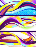 Modieuze stromende abstracte banners Royalty-vrije Stock Afbeelding