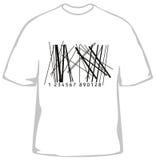 Modieuze t-shirt met streepjescode Stock Afbeeldingen
