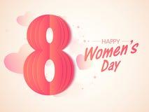 Modieuze tekst 8 Maart voor de Dag van Vrouwen Royalty-vrije Stock Foto