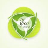 Modieuze tekst voor Vriendschappelijke Eco Stock Afbeeldingen
