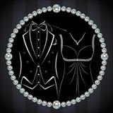 Modieuze uitnodiging of huwelijkskaart Royalty-vrije Stock Foto