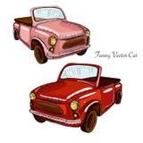 Modieuze vector retro auto grafiek royalty-vrije illustratie