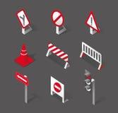 Modieuze verkeersteken en pictogrammen Royalty-vrije Stock Afbeeldingen