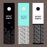 Modieuze verticale banners Stock Afbeeldingen