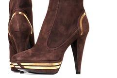 Modieuze vrouwelijke laarzen Stock Foto's