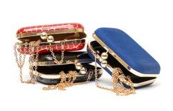 Modieuze vrouwelijke open handtassen royalty-vrije stock afbeelding