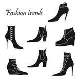 Modieuze vrouwen` s schoenen Royalty-vrije Stock Fotografie