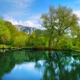 Modific il terrenoare con il lago Fotografia Stock Libera da Diritti