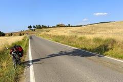 Modific il terrenoare in d'Orcia di Val (Toscana) Immagine Stock Libera da Diritti